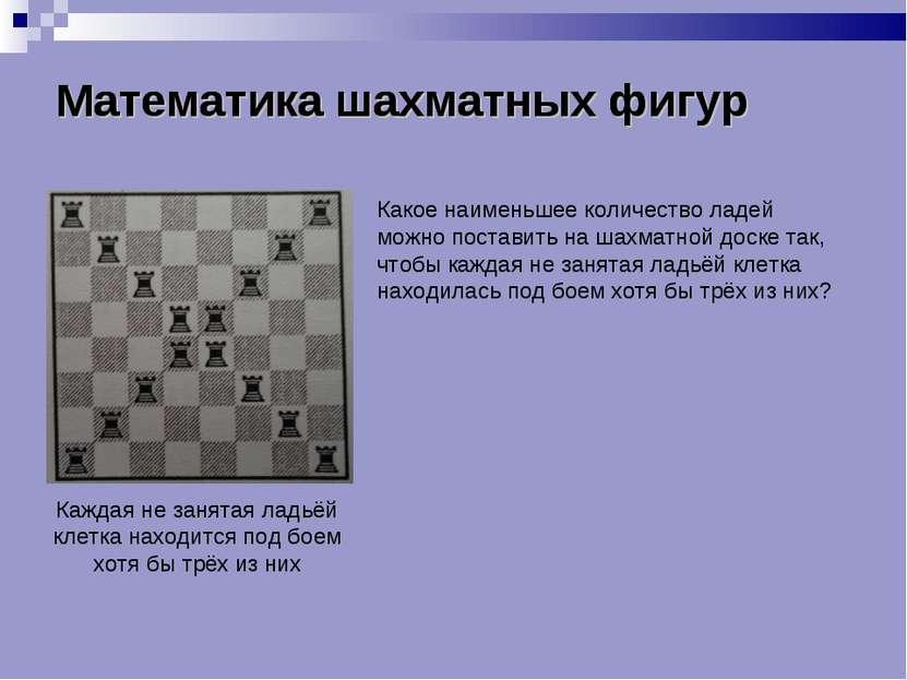 Математика шахматных фигур Математика шахматных фигур Математика шахматных фи...
