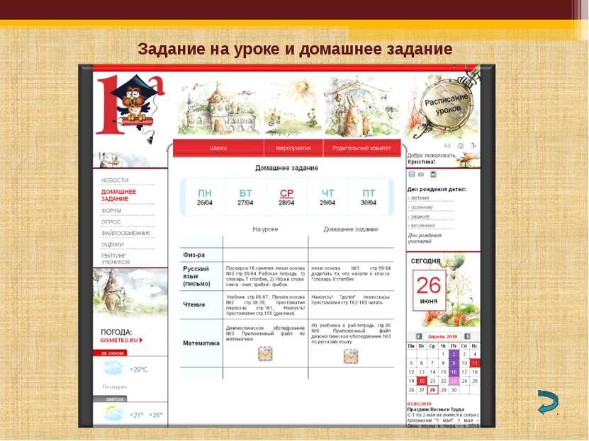 Задание на уроке и домашнее задание Управление образования администрации Копе...