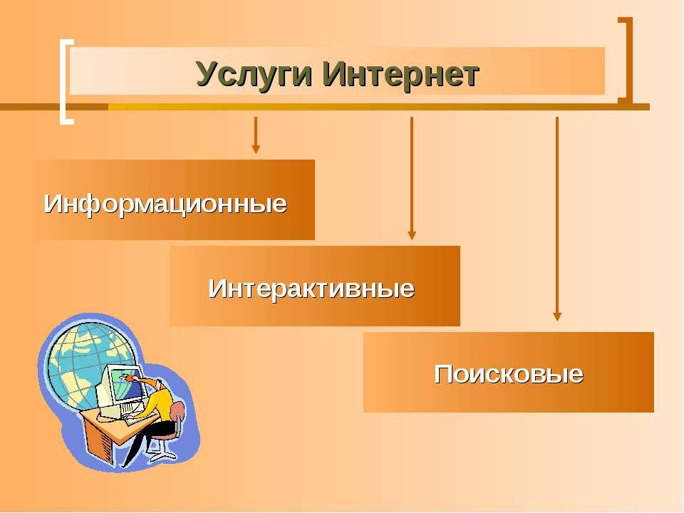 Услуги Интернет Информационные Поисковые Интерактивные