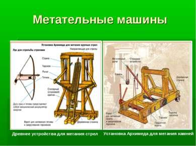 Метательные машины Древнее устройства для метания стрел Установка Архимеда дл...