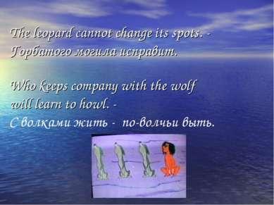 The leopard cannot change its spots. - Горбатого могила исправит. Who keeps c...