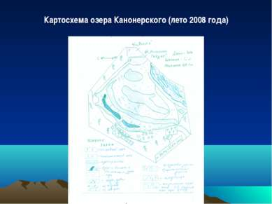 Картосхема озера Канонерского (лето 2008 года)