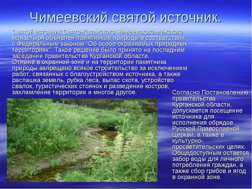 Чимеевский святой источник. Святой источник Свято-Казанского Чимеевского мужс...