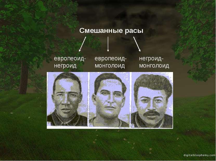 Смешанные расы европеоид-негроид европеоид-монголоид негроид-монголоид