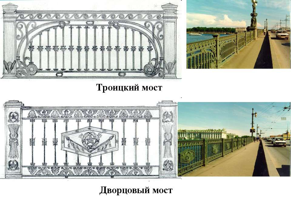 Троицкий мост Дворцовый мост