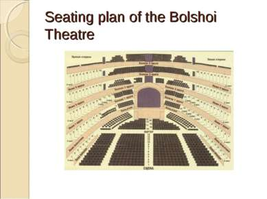 Seating plan of the Bolshoi Theatre