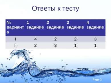 Ответы к тесту № варианта 1 задание 2 задание 3 задание 4 задание I 4 2 2 3 I...