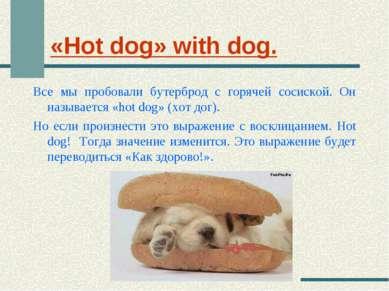 «Hot dog» with dog. Все мы пробовали бутерброд с горячей сосиской. Он называе...