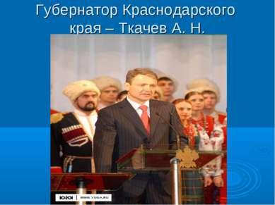 Губернатор Краснодарского края – Ткачев А. Н.