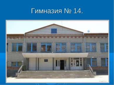 Гимназия № 14.
