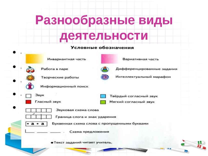 Разнообразные виды деятельности «Информационный поиск» «Дифференцированные за...
