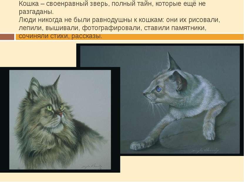 Кошка – своенравный зверь, полный тайн, которые ещё не разгаданы. Люди никогд...