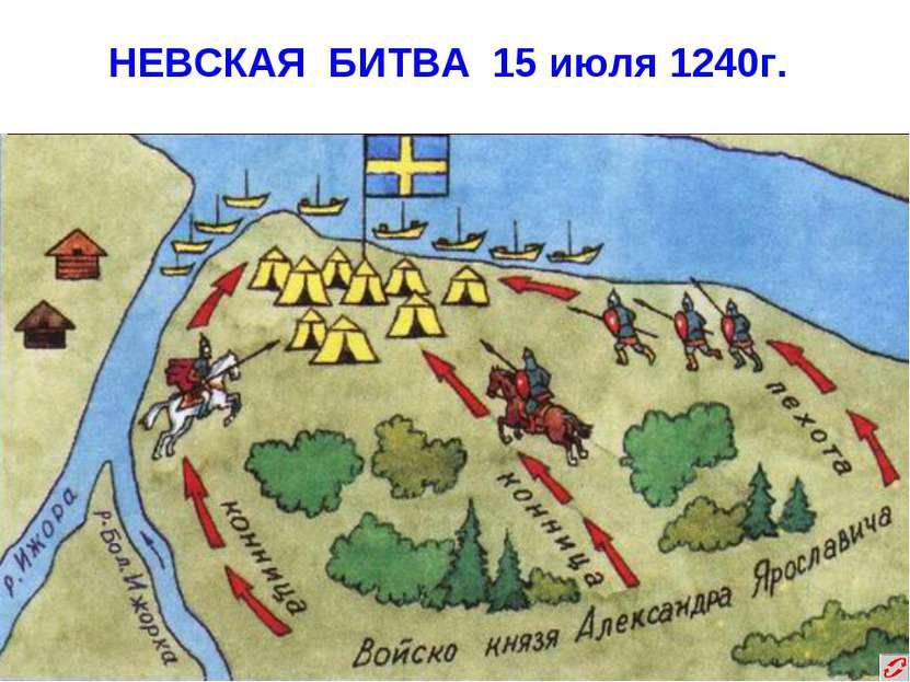 НЕВСКАЯ БИТВА 15 июля 1240г.