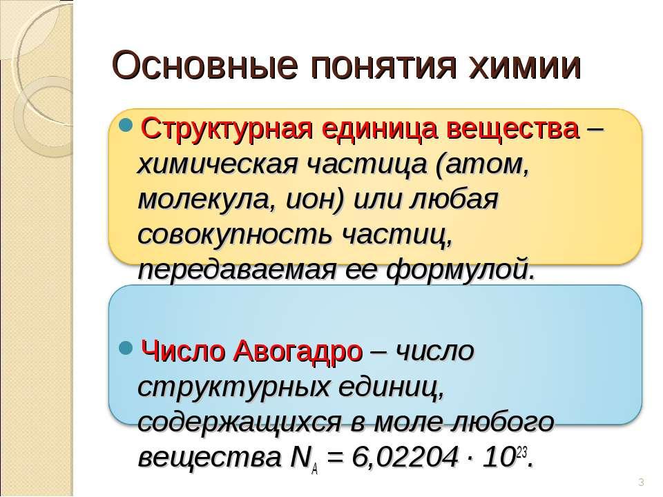 Структурная единица вещества – химическая частица (атом, молекула, ион) или л...