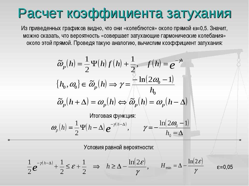 Расчет коэффициента затухания Из приведенных графиков видно, что они «колеблю...