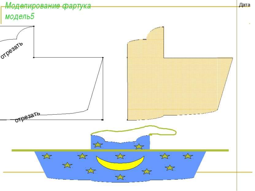 Моделирование фартука модель5 Дата отрезать отрезать