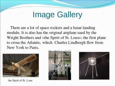 Image Gallery There are a lot of space rockets and a lunar landing module. It...