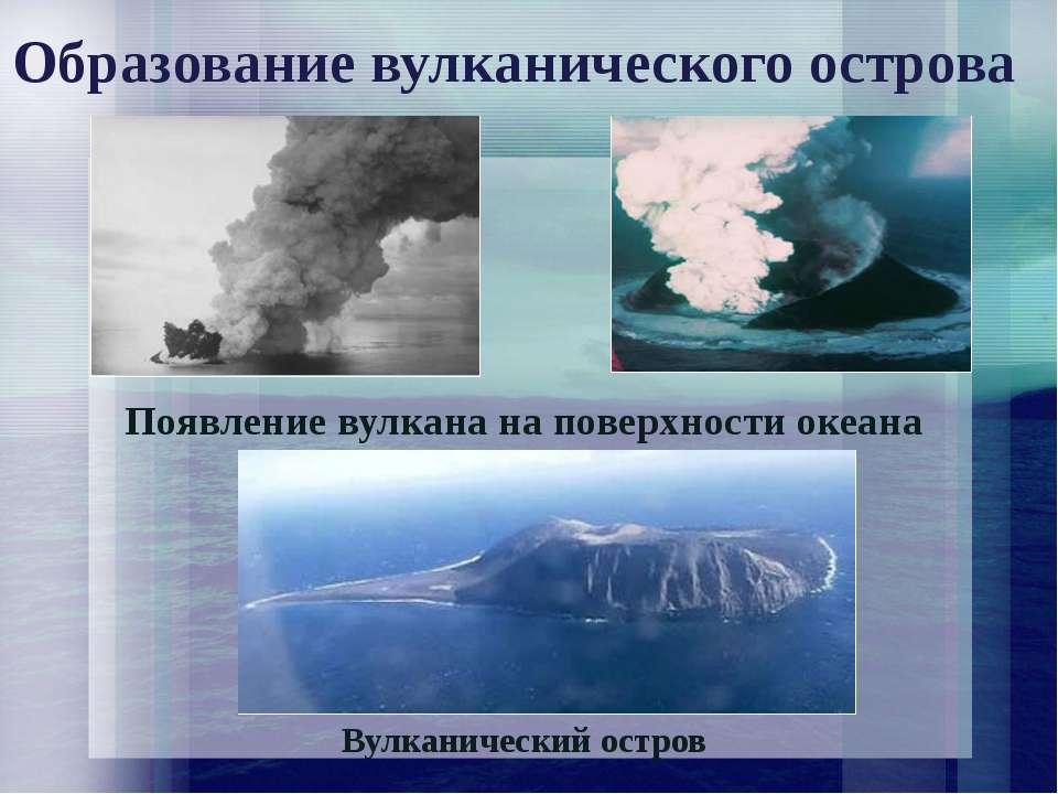 Образование вулканического острова Вулканический остров Появление вулкана на ...