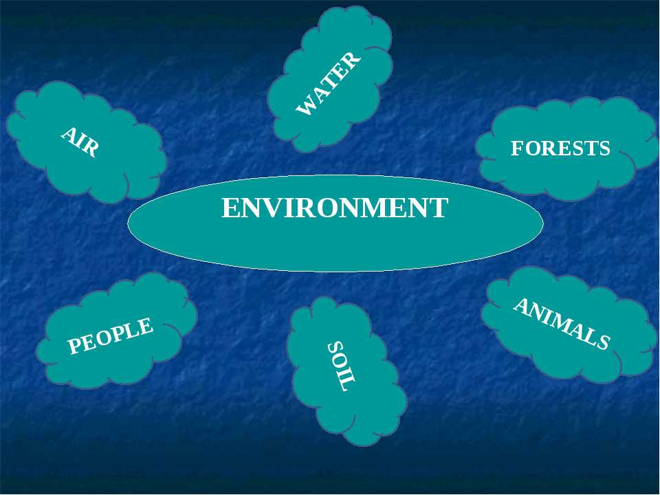 ENVIRONMENT WATER FORESTS ANIMALS SOIL PEOPLE AIR