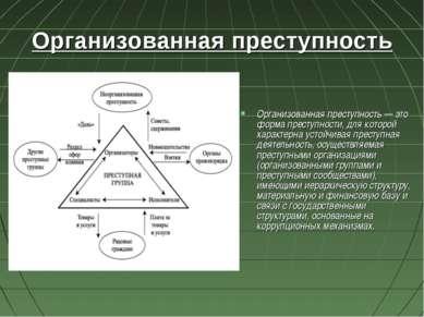 Организованная преступность Организованная преступность — это форма преступно...