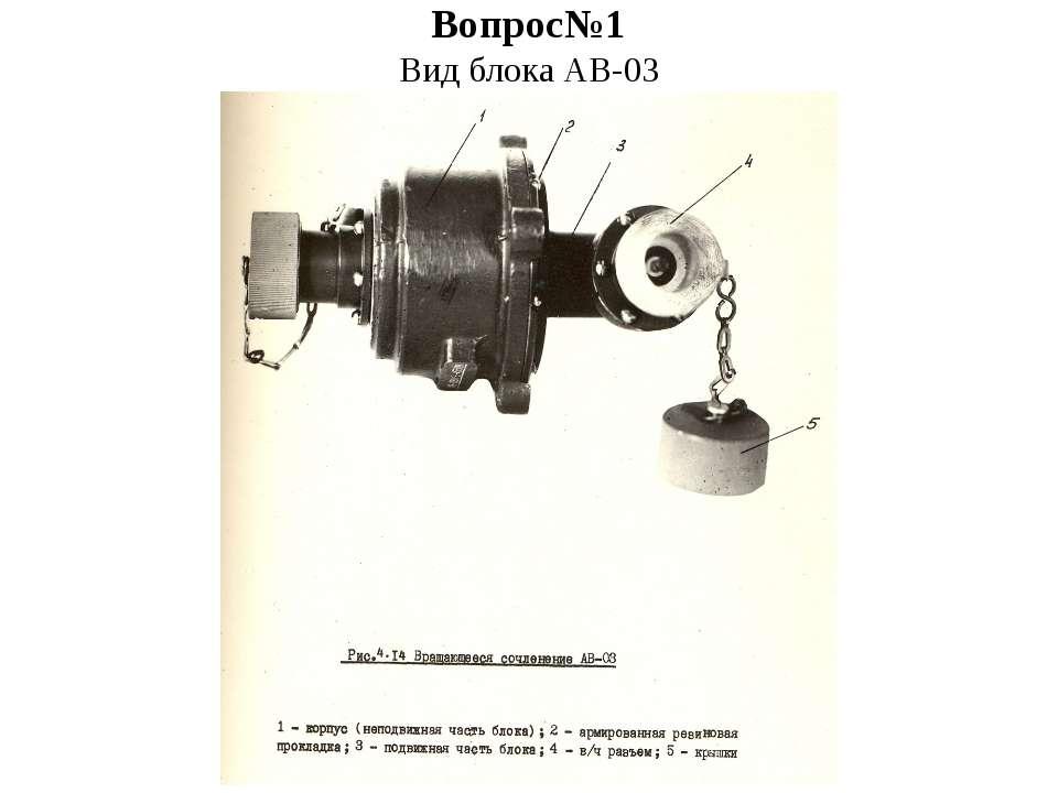 Вопрос№1 Вид блока АВ-03