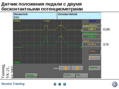 Датчик положения педали с двумя бесконтактными потенциометрами G185 G79 Servi...