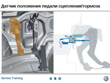 Датчик положения педали сцепления/тормоза Service Training *