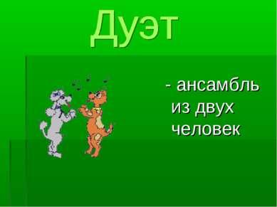 - ансамбль из двух человек
