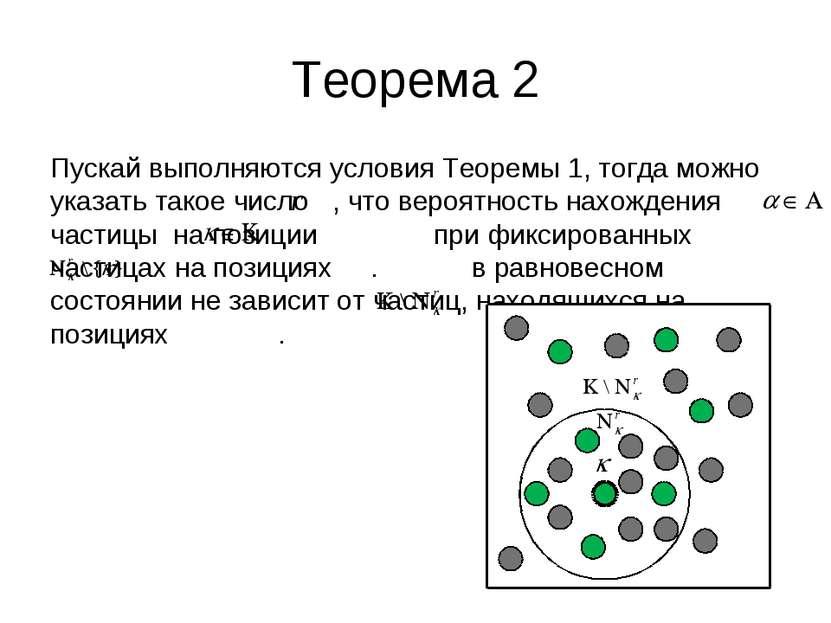 Теорема 2 Пускай выполняются условия Теоремы 1, тогда можно указать такое чис...