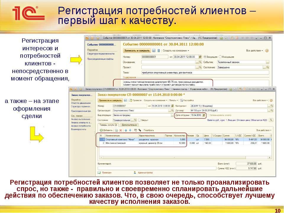 * Регистрация потребностей клиентов – первый шаг к качеству. Регистрация инте...