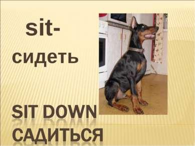 sit- сидеть