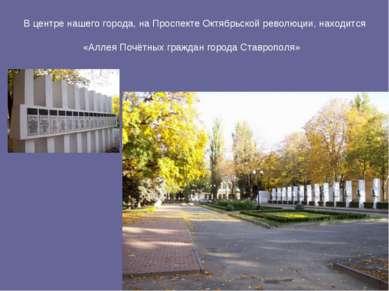 В центре нашего города, на Проспекте Октябрьской революции, находится «Аллея ...