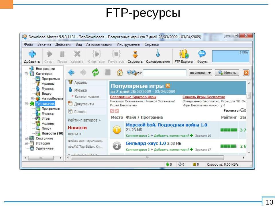 FTP-ресурсы