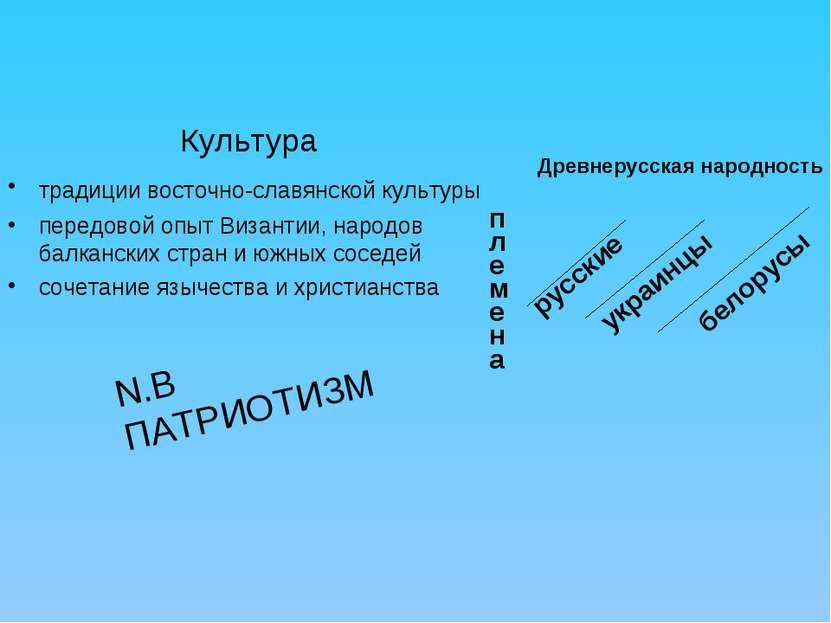Культура традиции восточно-славянской культуры передовой опыт Византии, народ...