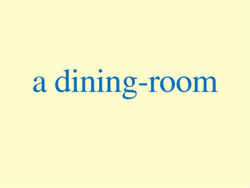 a dining-room