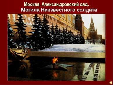 Москва. Александровский сад. Могила Неизвестного солдата