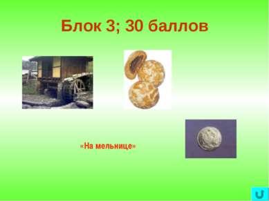 Блок 3; 30 баллов «На мельнице»