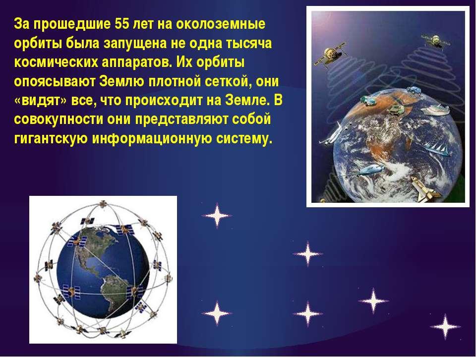 За прошедшие 55 лет на околоземные орбиты была запущена не одна тысяча космич...