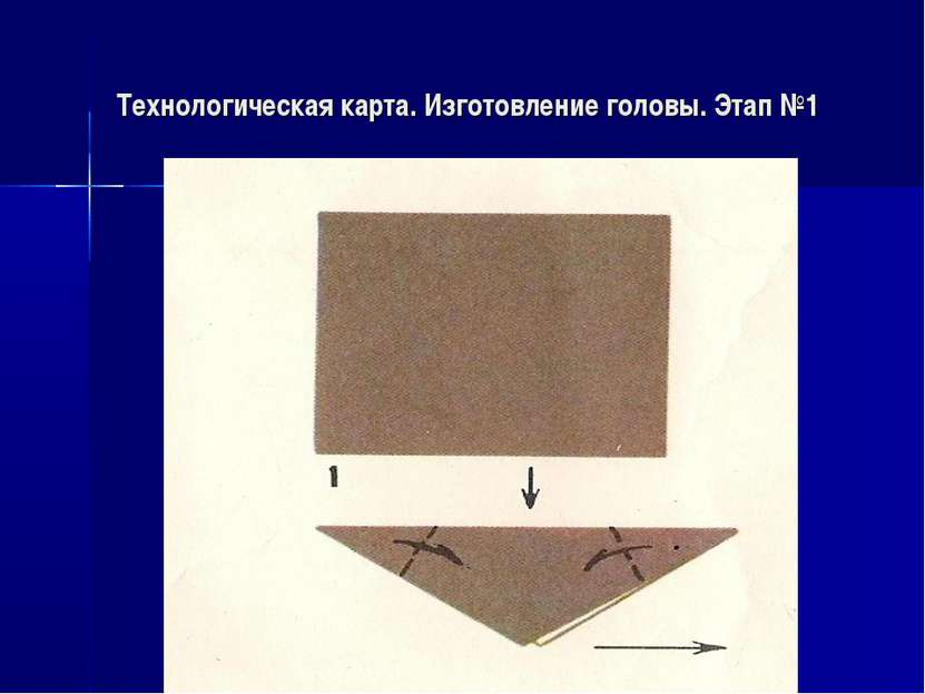 Технологическая карта. Изготовление головы. Этап №1
