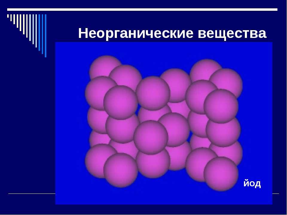 Неорганические вещества йод
