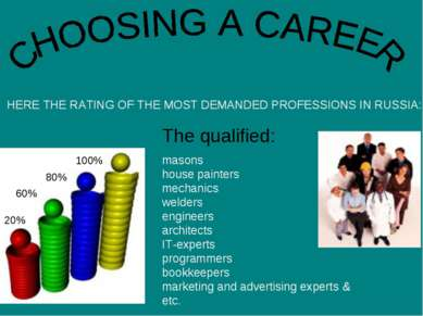 HERE THE RATING OF THE MOST DEMANDED PROFESSIONS IN RUSSIA: masons house pain...
