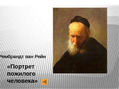 Рембрандт ван Рейн «Портрет пожилого человека»