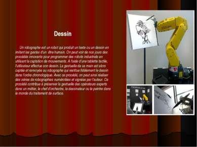 Dessin Un robographe est un robot qui produit un texte ou un dessin en imitan...