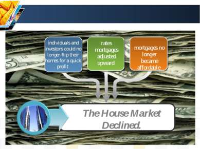 individuals and investors could no longer flip their homes for a quick profit...