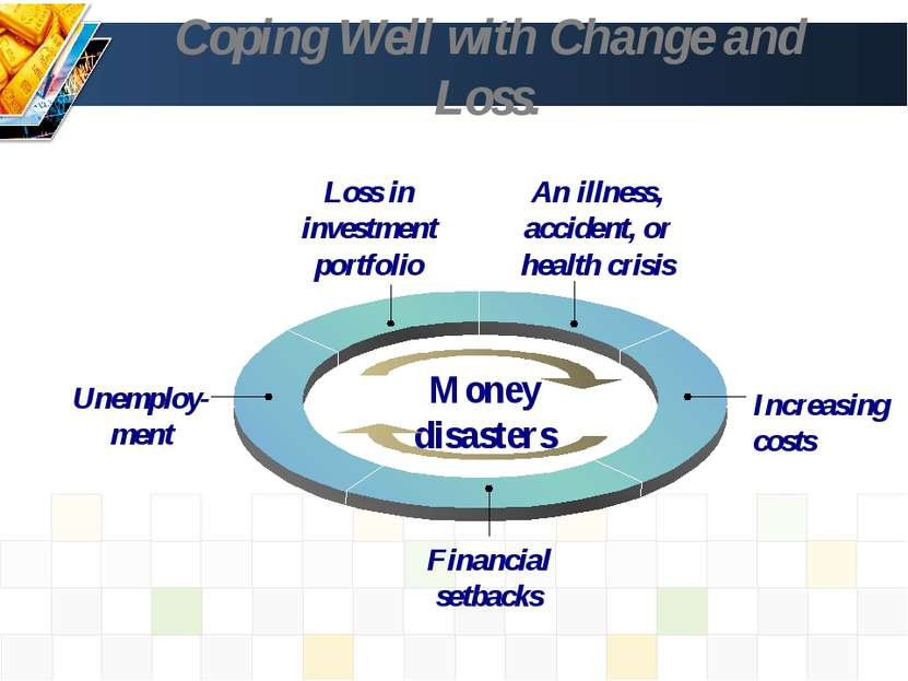 Coping Well with Change and Loss. Loss in investment portfolio An illness, ac...