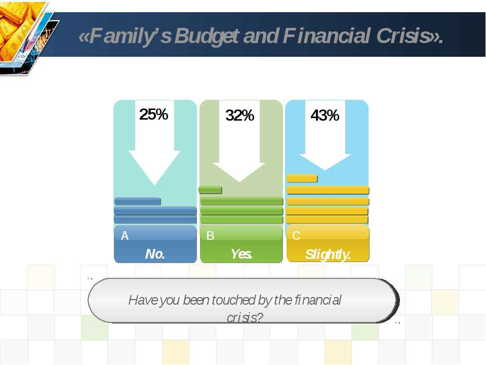 «Family's Budget and Financial Crisis». Have you been touched by the financia...