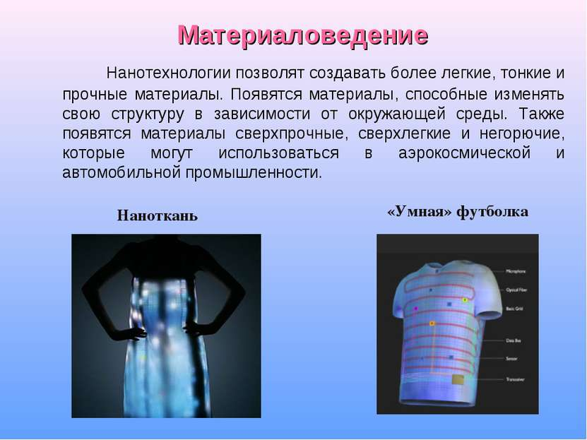 Материаловедение Нанотехнологии позволят создавать более легкие, тонкие и про...