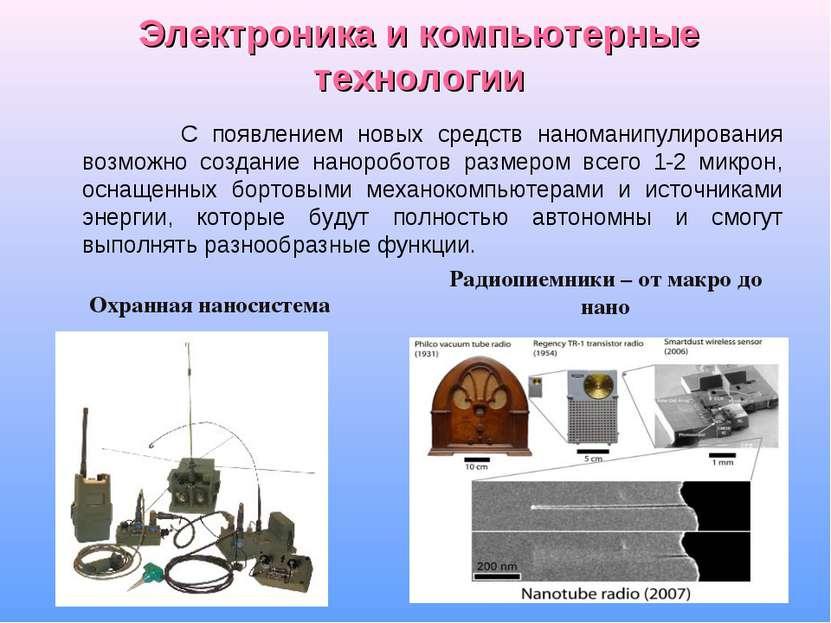 Электроника и компьютерные технологии С появлением новых средств наноманипули...