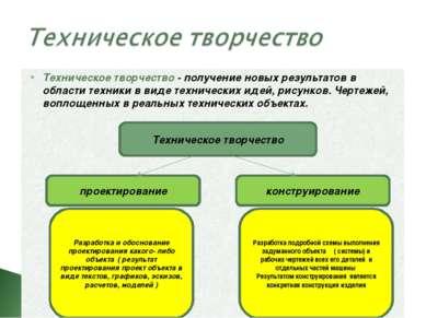 Техническое творчество проектирование конструирование Разработка и обосновани...