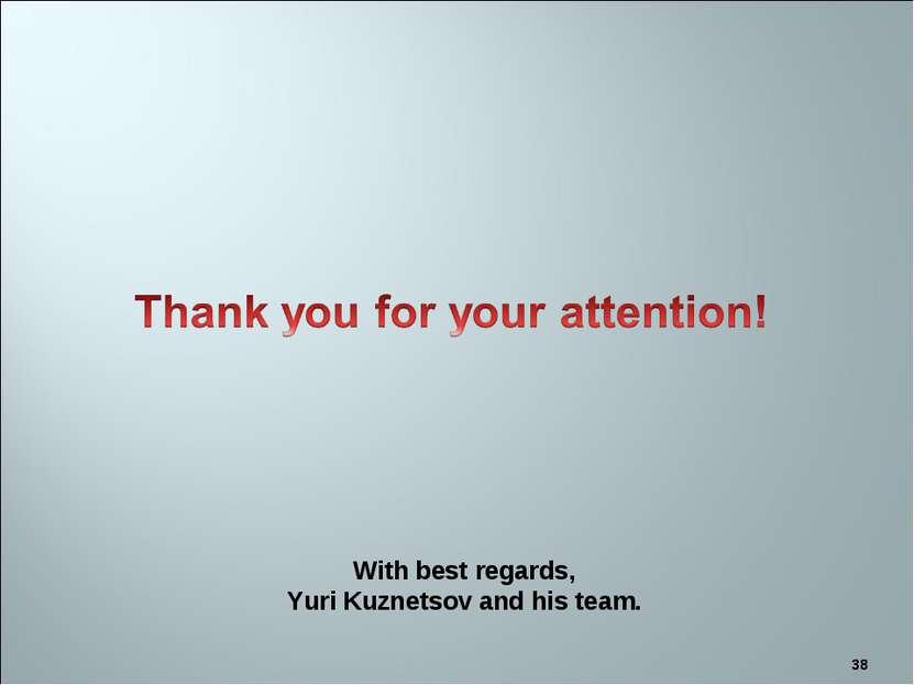 * With best regards, Yuri Kuznetsov and his team.